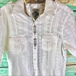 English Laundry Peoples Army Shirt Men's L White